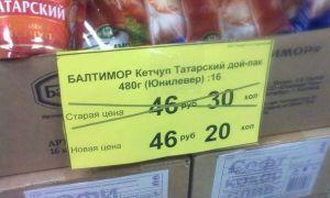 Цены в сети магазинов «Красное и Белое»